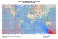 World Magnetic Model (WMM) declination