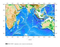 1 hour Tsunami travel time map for the Indian Oceani seismic zones