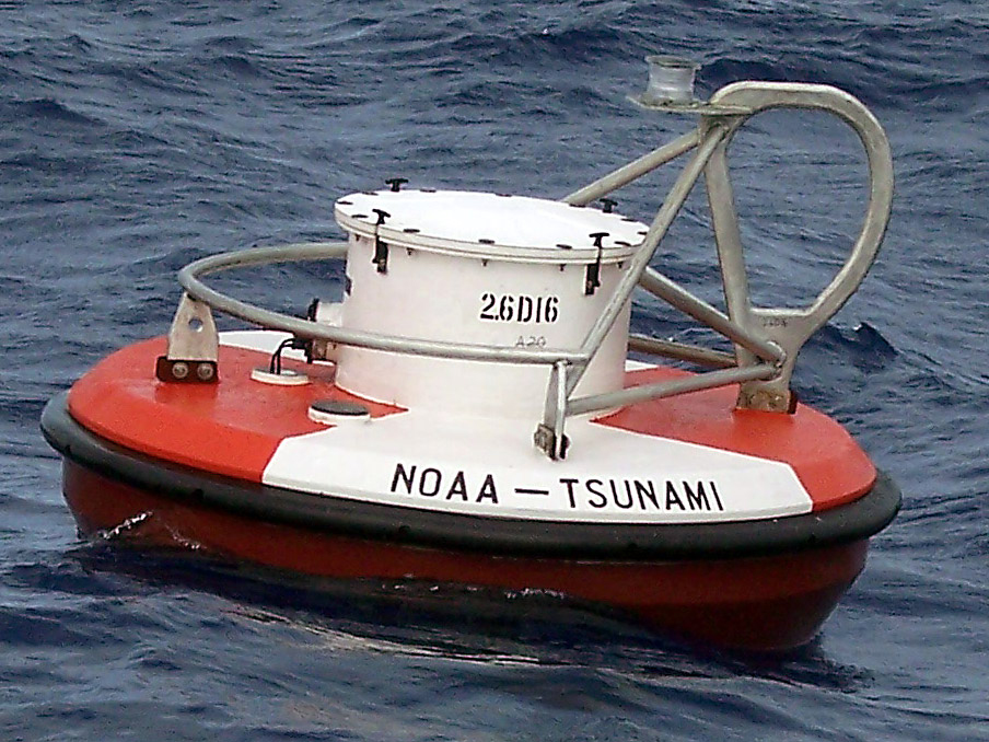 Image of NOAA DART® II buoy at sea