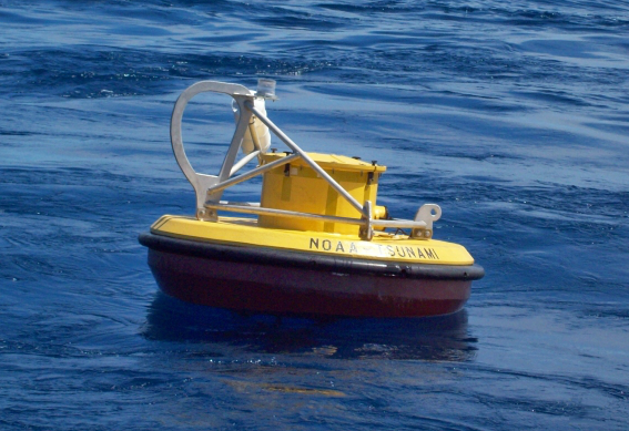 Image of NOAA DART® buoy at sea