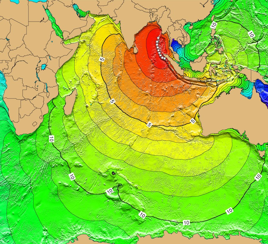 Tsunami Time Travel Maps - Tsunami Sources