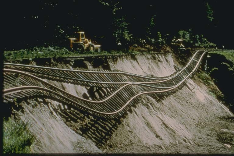 Union Pacific Railway Damage from Ground Deformation, Seattle, Washington