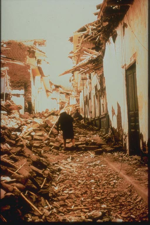 After View of City Street, Huaraz, Peru