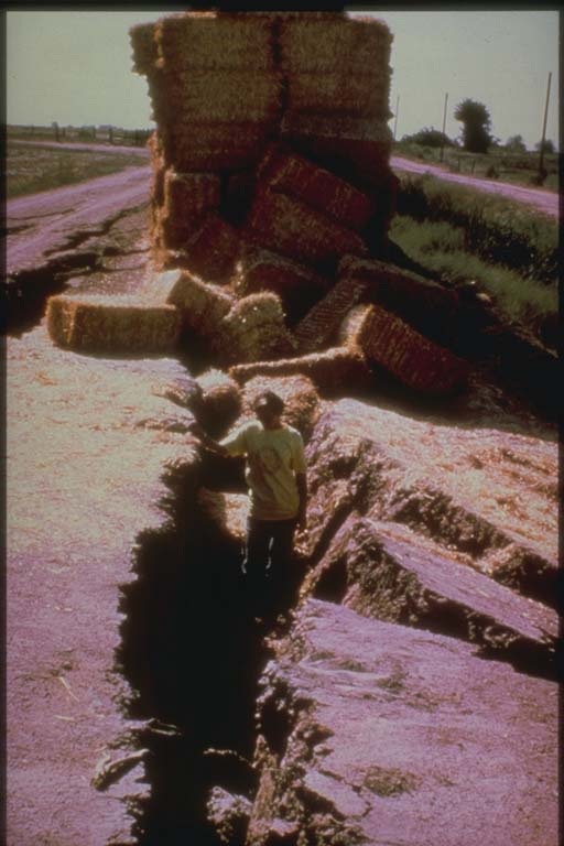 Slumping near El Centro, California