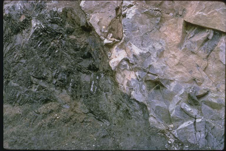 Reverse fault near Clark County, Montana