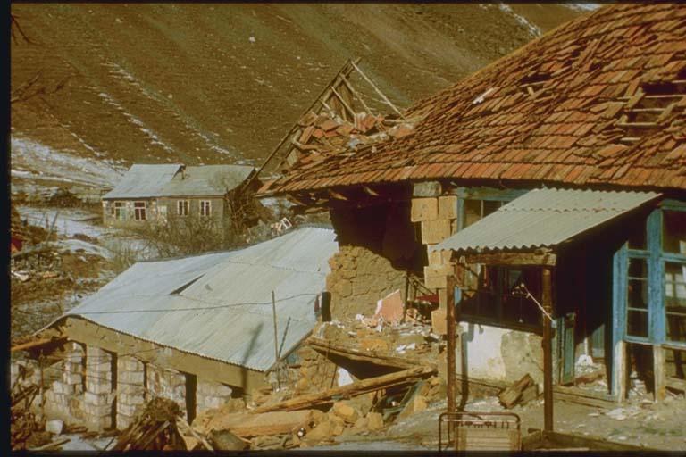 Collapsed Stone Masonry Building, Halavar, Armenia