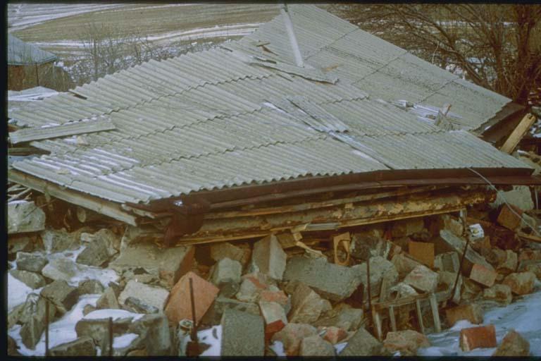 Collapsed Masonry Building, Arevashok, Armenia
