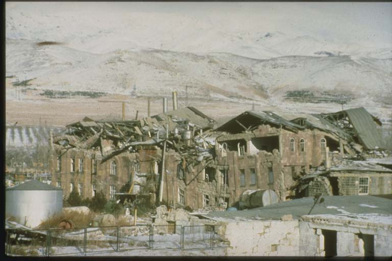 Damage to Sugar Beet Refinery, Spitak, Armenia