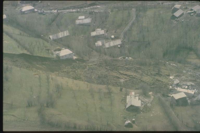 Earthquake-induced Landslide, Halavar, Armenia
