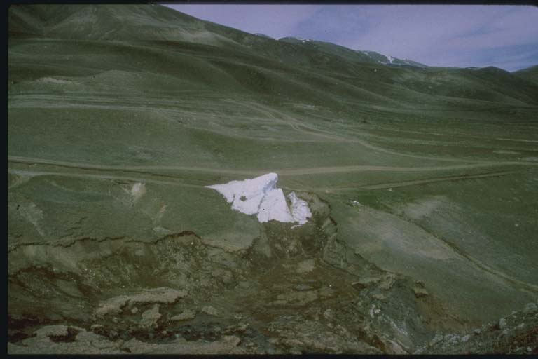 Iceberg Produced by Broken Pipe near Spitak, Armenia