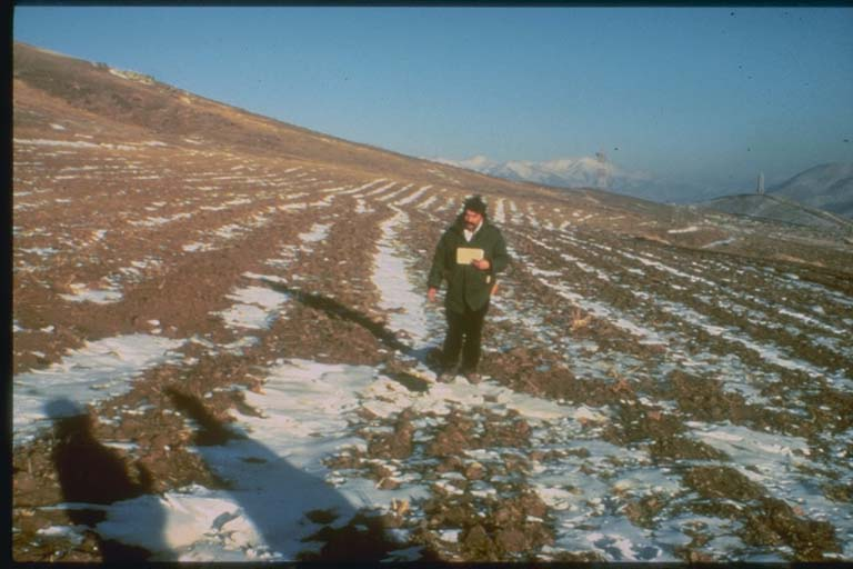 Right-lateral Strike Slip Fault near Spitak, Armenia