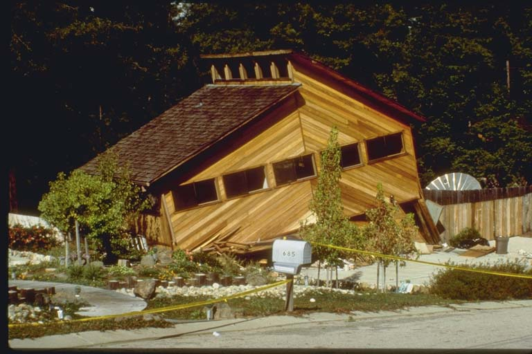 Collapsed Home, Boulder Creek, California