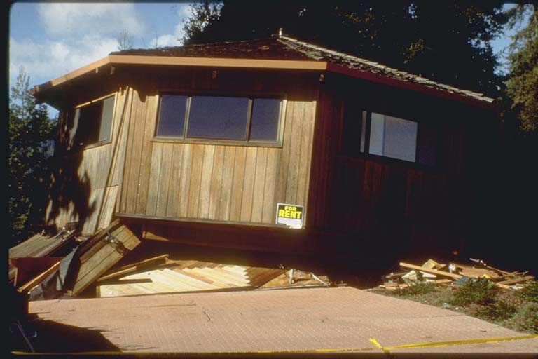 Damage to Home in Boulder Creek, California