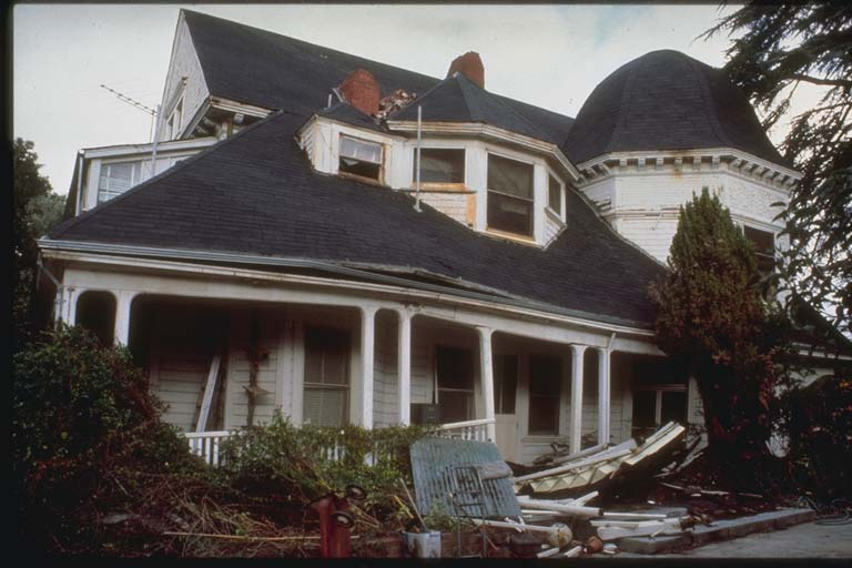 Major Damage to 90-year-old Home, Los Gatos, California