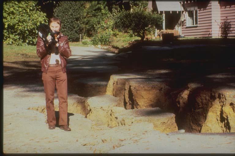 Fissure on San Andreas Summit Road, Santa Cruz, California