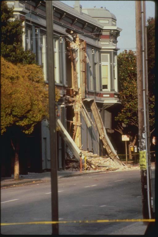 Damage to Pacific Garden Mall, Santa Cruz, California