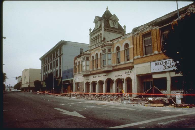 Parapet Damage, Beach Street, Watsonville, California