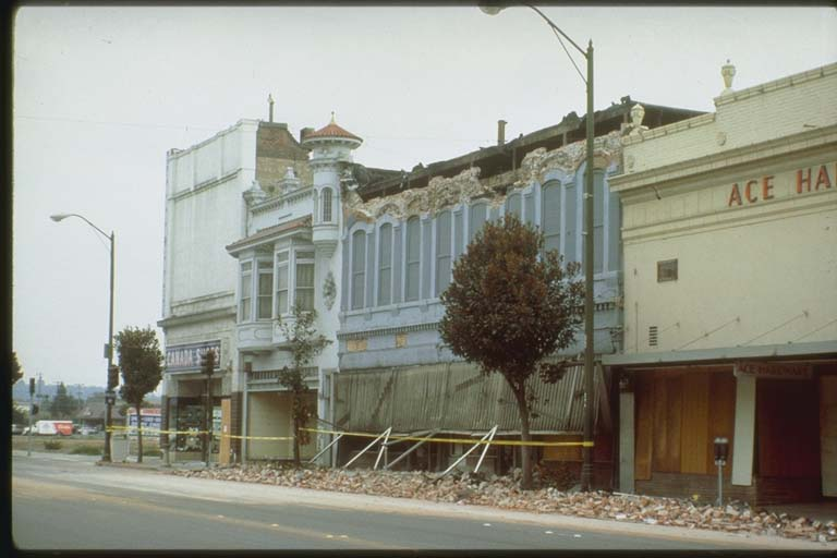 Parapet Damage, Main and Second Street, Watsonville, California