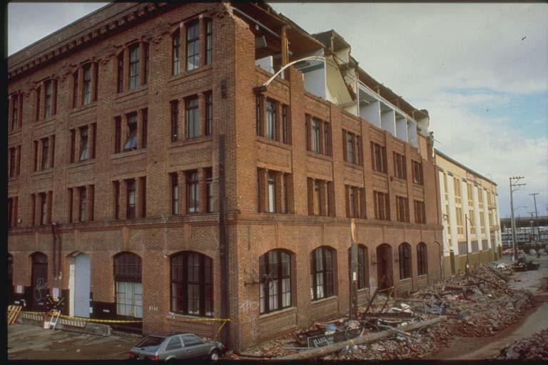 Collapsed 4th-Story Wall, San Francisco, California