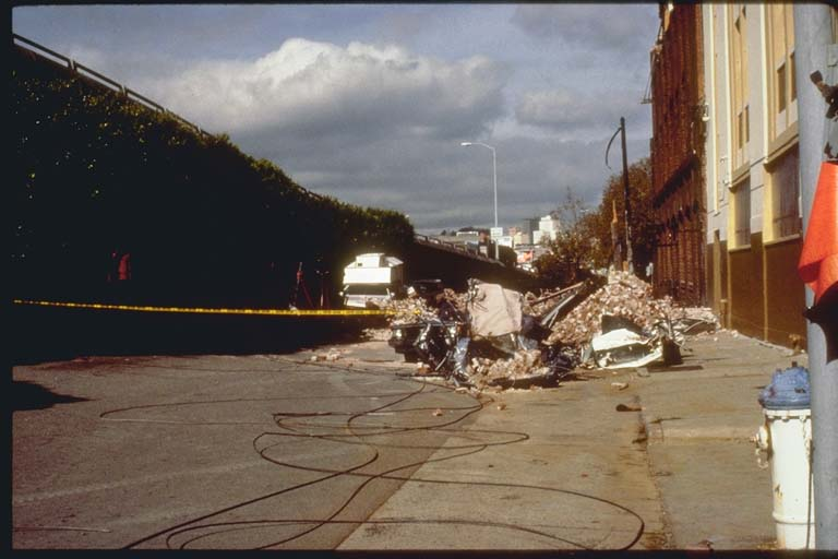 Damaged Cars in which 5 People Were Killed, San Francisco, California