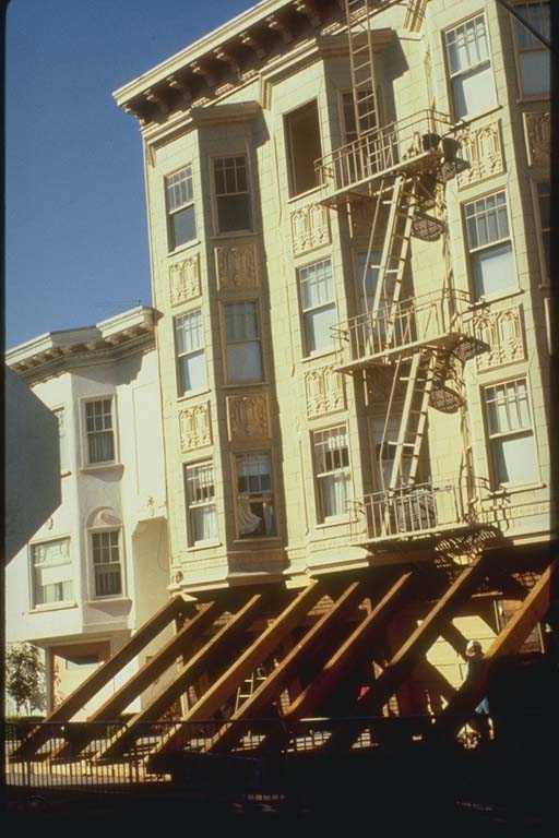 Shored Building in the Marina District, San Francisco