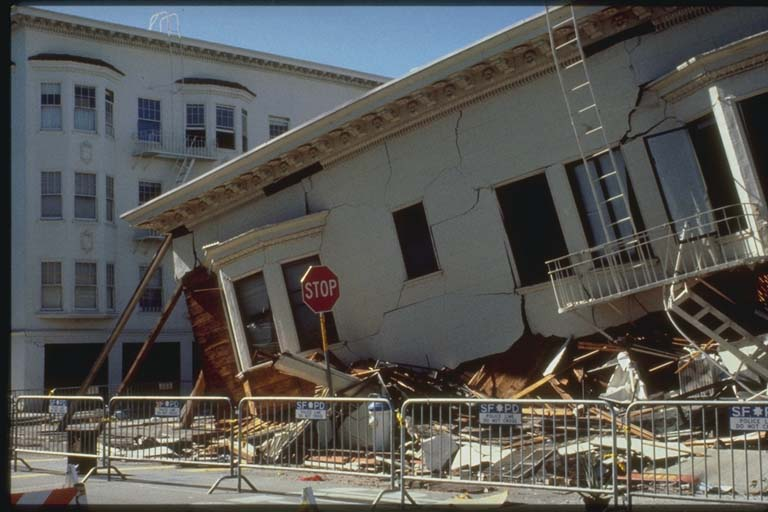 Collapsed Building in the Marina District, San Francisco