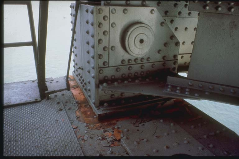Damage to Truss Support Bearing Shoe, San Francisco Oakland Bay Bridge