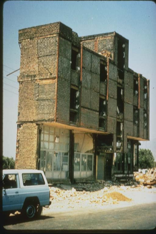 Damage to Building with Reinforced Infill Walls, Iran