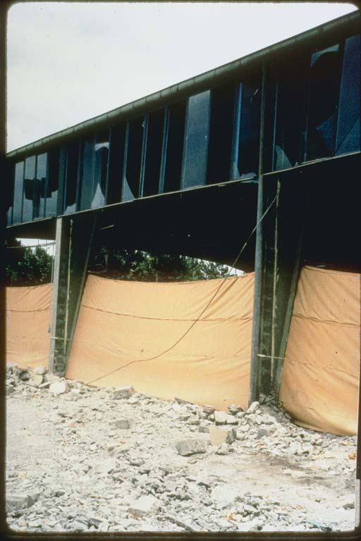 Damage to Building with Rod Bracing, Iran