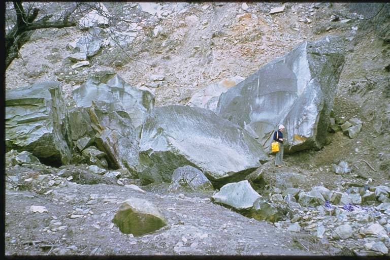 Second view of rockfalls in Buzau Mountains
