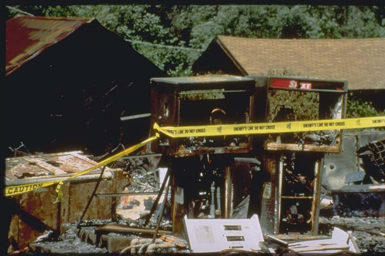 Remains of Petrolia's business district after earthquake and fire