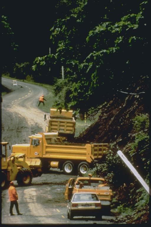 Removal of landslide on Mattole Road