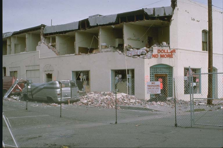 Damage in historical area of Fillmore