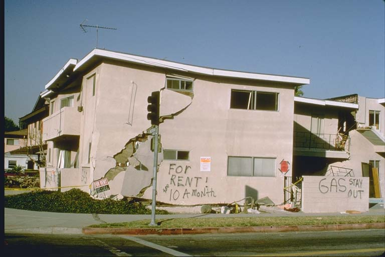 Damaged apartment in Sherman Oaks