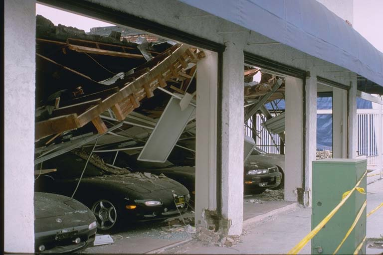 Damage to car dealership in Santa Monica