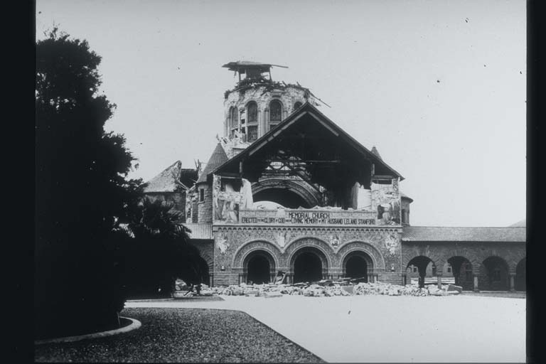 Damage to Memorial Church, Stanford University