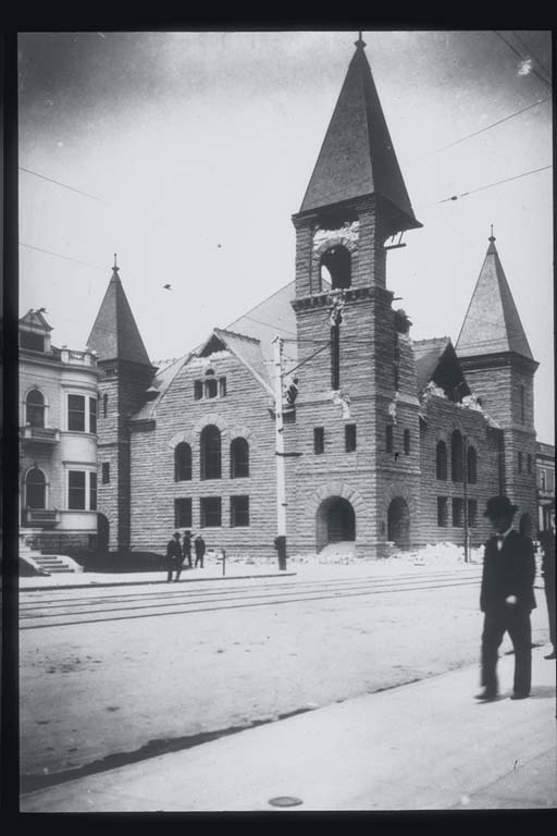 Damage to First Baptist Church in Oakland