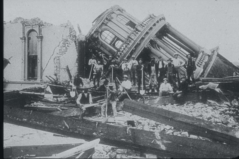 Collapse of City Hall at Santa Rosa