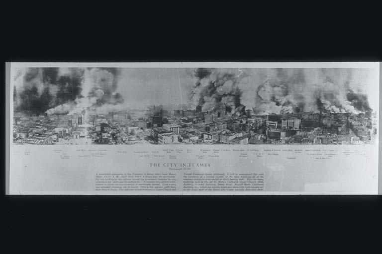 Panoramic View of San Francisco in Flames
