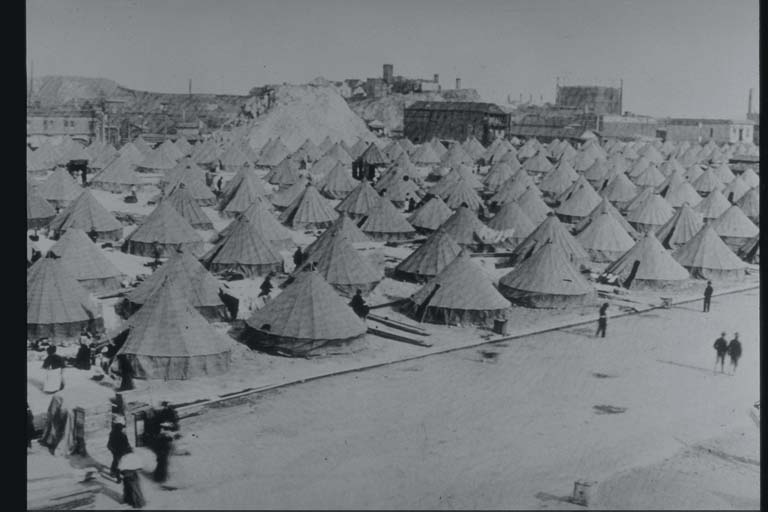 Tent Camp for Earthquake Victims