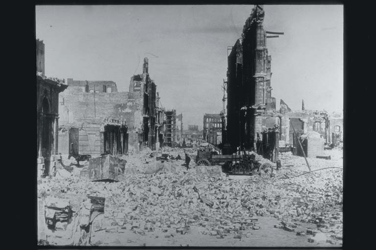 View of Devastation Looking Toward Market Street