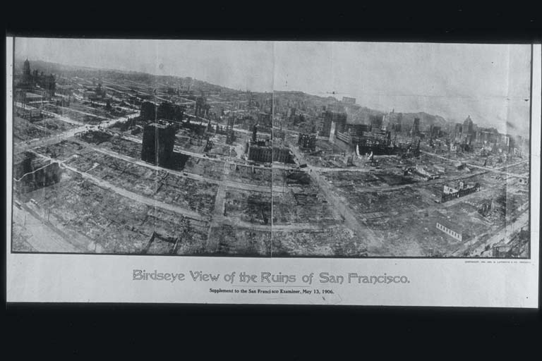 Panoramic View of Nearly Total Devastation of San Francisco