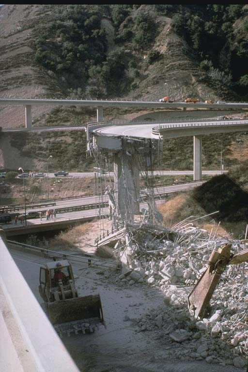 Damage at I-5 and C-14 Interchange (1994)
