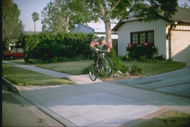Buckled sidewalks in northern Granada Hills (1994)