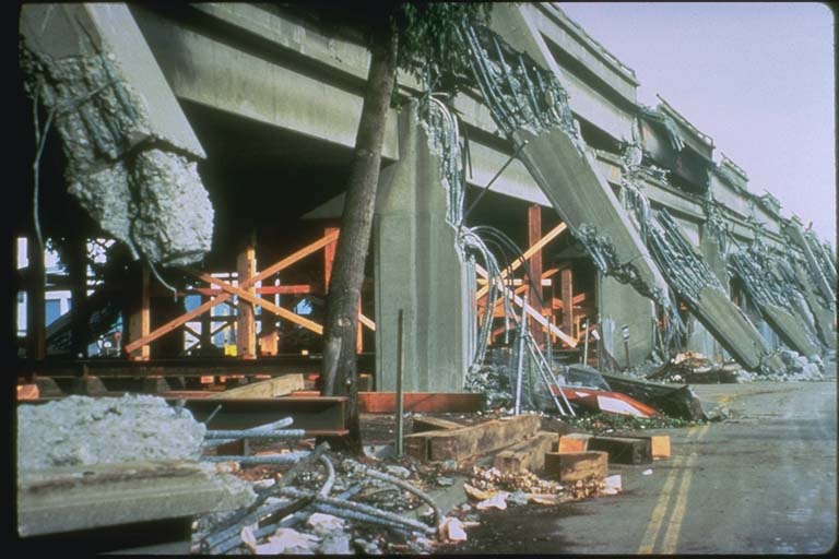 Collapsed Cypress section of Interstate 880