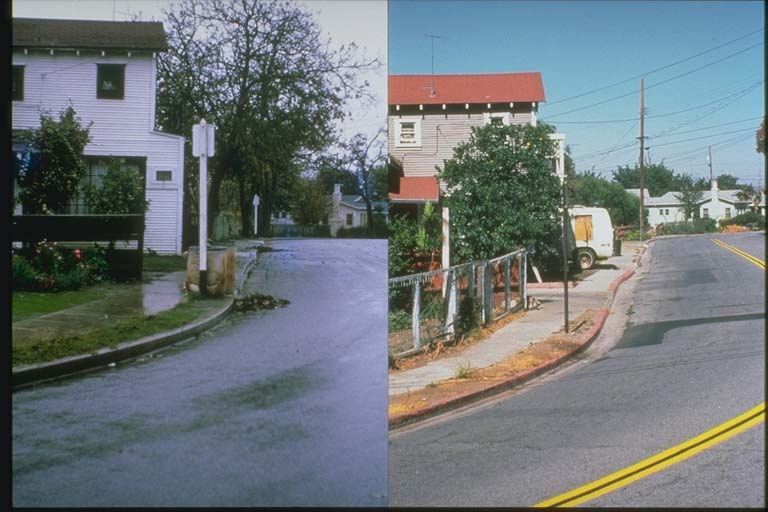 Creep on Locust Street as it looked in 1966 and 1992