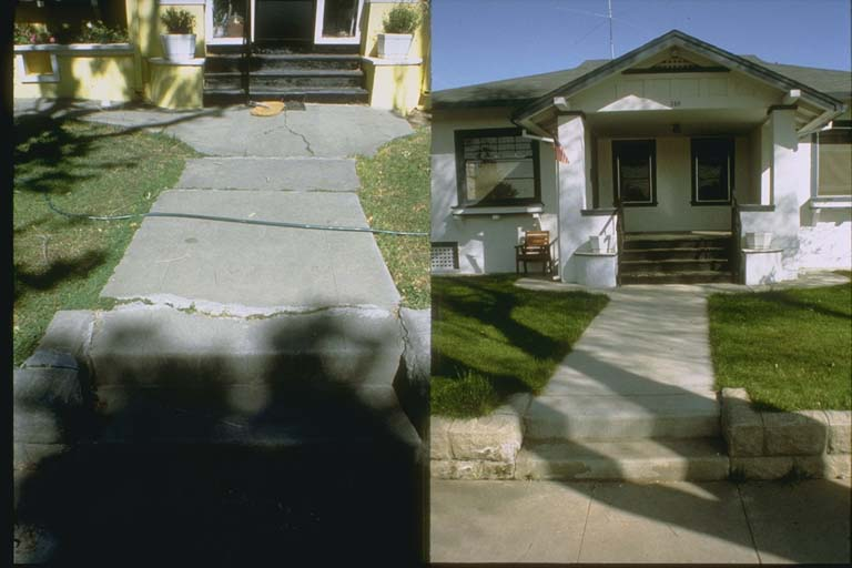 Walkway as it appeared in 1985 and in 1991