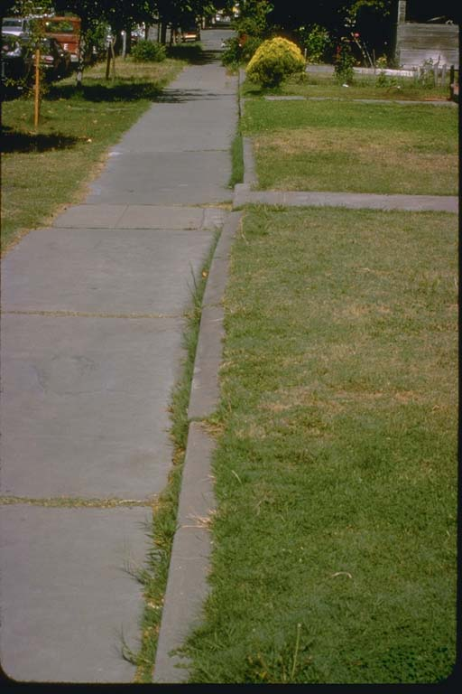 Curb on opposite side of street