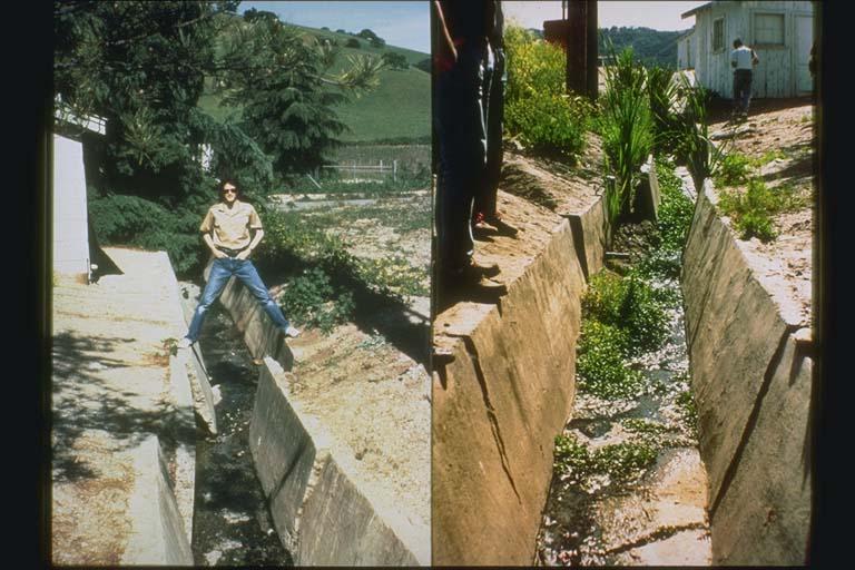 Offset of culvert near Almaden Cienega Winery