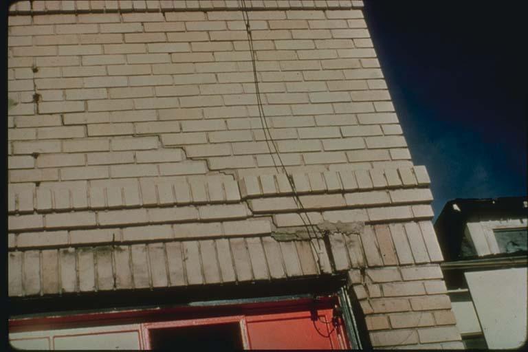 Building damage caused by creep in Hayward